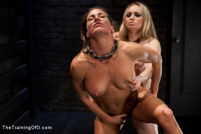 Photo number 11 from Lesbian Slave Training Ariel X<br>Featured Trainer-Aiden Starr shot for The Training Of O on Kink.com. Featuring Ariel X and Aiden Starr in hardcore BDSM & Fetish porn.