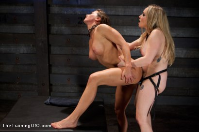 Photo number 14 from Lesbian Slave Training Ariel X<br>Featured Trainer-Aiden Starr shot for The Training Of O on Kink.com. Featuring Ariel X and Aiden Starr in hardcore BDSM & Fetish porn.