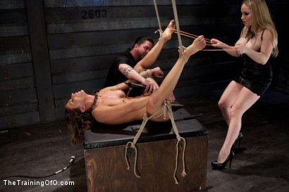 Photo number 3 from Lesbian Slave Training Ariel X<br>Featured Trainer-Aiden Starr shot for The Training Of O on Kink.com. Featuring Ariel X and Aiden Starr in hardcore BDSM & Fetish porn.