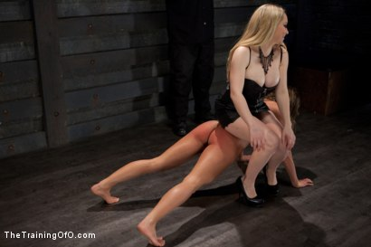 Photo number 1 from Lesbian Slave Training Ariel X<br>Featured Trainer-Aiden Starr shot for The Training Of O on Kink.com. Featuring Ariel X and Aiden Starr in hardcore BDSM & Fetish porn.