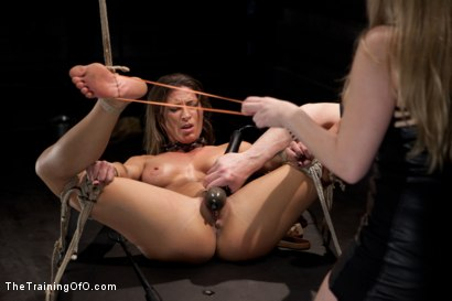 Photo number 4 from Lesbian Slave Training Ariel X<br>Featured Trainer-Aiden Starr shot for The Training Of O on Kink.com. Featuring Ariel X and Aiden Starr in hardcore BDSM & Fetish porn.