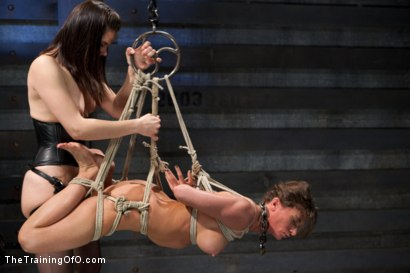 Photo number 10 from Lesbian Slave Training Ariel X<br>Featured Trainer Bobbi Starr shot for The Training Of O on Kink.com. Featuring Ariel X and Bobbi Starr in hardcore BDSM & Fetish porn.