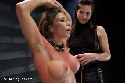 Photo number 4 from Lesbian Slave Training Ariel X<br>Featured Trainer Bobbi Starr shot for The Training Of O on Kink.com. Featuring Ariel X and Bobbi Starr in hardcore BDSM & Fetish porn.