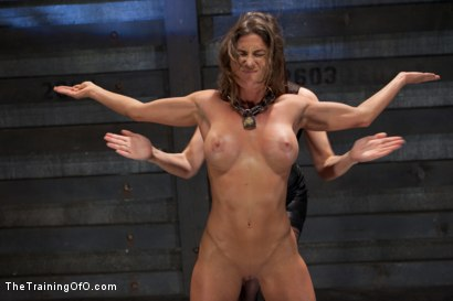 Photo number 1 from Lesbian Slave Training Ariel X<br>Featured Trainer Bobbi Starr shot for The Training Of O on Kink.com. Featuring Ariel X and Bobbi Starr in hardcore BDSM & Fetish porn.