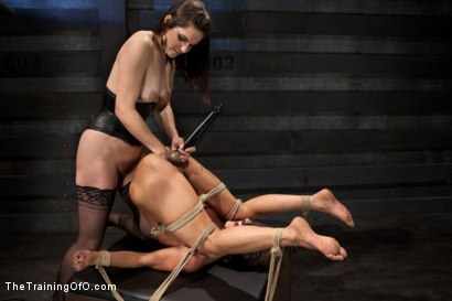Photo number 15 from Lesbian Slave Training Ariel X<br>Featured Trainer Bobbi Starr shot for The Training Of O on Kink.com. Featuring Ariel X and Bobbi Starr in hardcore BDSM & Fetish porn.