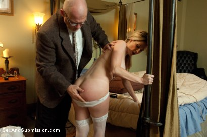 Photo number 4 from The Curious Maid shot for Sex And Submission on Kink.com. Featuring Mark Davis and Angela Attison in hardcore BDSM & Fetish porn.
