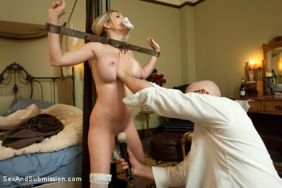 Photo number 7 from The Curious Maid shot for Sex And Submission on Kink.com. Featuring Mark Davis and Angela Attison in hardcore BDSM & Fetish porn.