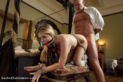 Photo number 8 from The Curious Maid shot for Sex And Submission on Kink.com. Featuring Mark Davis and Angela Attison in hardcore BDSM & Fetish porn.