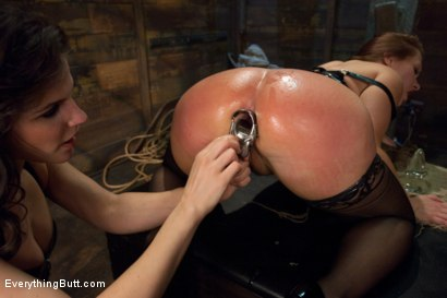 Photo number 5 from Glorious German Butthole shot for Everything Butt on Kink.com. Featuring Bobbi Starr, Mark Davis and Katja Kassin in hardcore BDSM & Fetish porn.