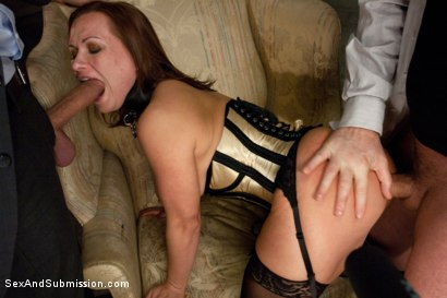 Photo number 3 from Slave Wife gets Double Stuffed in Bondage shot for Sex And Submission on Kink.com. Featuring Katja Kassin, Mark Davis and Steve Holmes in hardcore BDSM & Fetish porn.