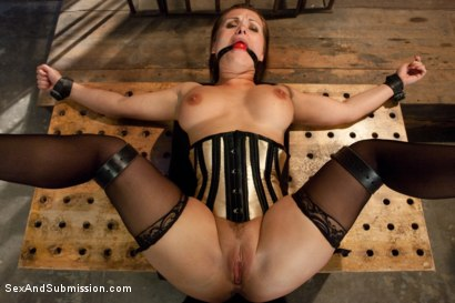 Photo number 4 from Slave Wife gets Double Stuffed in Bondage shot for Sex And Submission on Kink.com. Featuring Katja Kassin, Mark Davis and Steve Holmes in hardcore BDSM & Fetish porn.