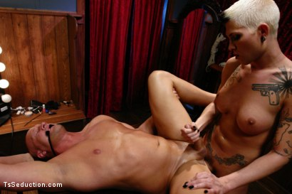 Photo number 10 from Cabaret: TS Danni Daniels owns Christian  shot for TS Seduction on Kink.com. Featuring Danni Daniels and Christian in hardcore BDSM & Fetish porn.