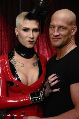 Photo number 1 from Cabaret: TS Danni Daniels owns Christian  shot for TS Seduction on Kink.com. Featuring Danni Daniels and Christian in hardcore BDSM & Fetish porn.
