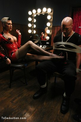 Photo number 4 from Cabaret: TS Danni Daniels owns Christian  shot for TS Seduction on Kink.com. Featuring Danni Daniels and Christian in hardcore BDSM & Fetish porn.