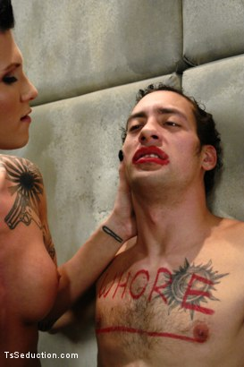 Photo number 7 from Feeding The Wolves: Ts Danni Daniels takes Prey shot for TS Seduction on Kink.com. Featuring Danni Daniels and DJ in hardcore BDSM & Fetish porn.