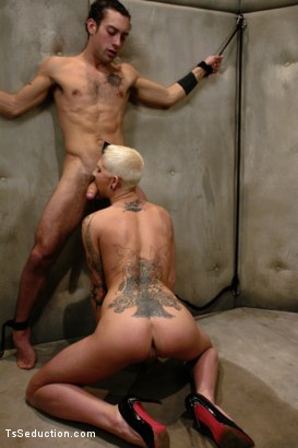 Photo number 4 from Feeding The Wolves: Ts Danni Daniels takes Prey shot for TS Seduction on Kink.com. Featuring Danni Daniels and DJ in hardcore BDSM & Fetish porn.