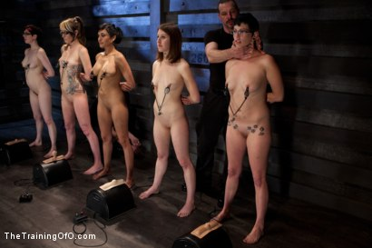 Photo number 4 from Seven Slave Intake<br>Extreme Bondage, Exhausting Exercise, & Overwhelming Orgasms Expose the Weak shot for The Training Of O on Kink.com. Featuring Beretta James, Emii Ebi, Oliver Hyde, Kay Kardia, Pixie  , Melanie Lucci, Sahara Rain and Maestro Stefanos in hardcore BDSM & Fetish porn.