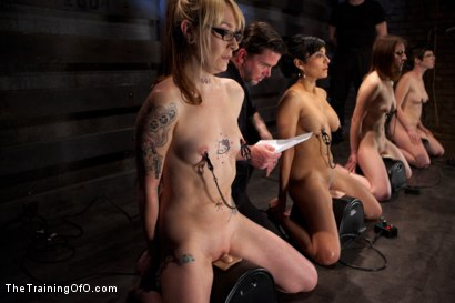 Photo number 5 from Seven Slave Intake<br>Extreme Bondage, Exhausting Exercise, & Overwhelming Orgasms Expose the Weak shot for The Training Of O on Kink.com. Featuring Beretta James, Emii Ebi, Oliver Hyde, Kay Kardia, Pixie  , Melanie Lucci, Sahara Rain and Maestro Stefanos in hardcore BDSM & Fetish porn.
