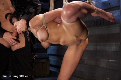 Photo number 2 from Slave Training Beretta James<br>Day Three  shot for The Training Of O on Kink.com. Featuring Beretta James and Derrick Pierce in hardcore BDSM & Fetish porn.
