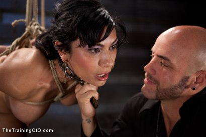Photo number 1 from Slave Training Beretta James<br>Day Three  shot for The Training Of O on Kink.com. Featuring Beretta James and Derrick Pierce in hardcore BDSM & Fetish porn.