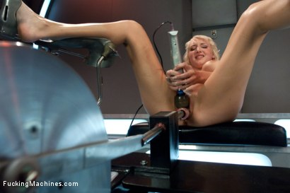 Photo number 6 from Debuting of the Sexiest Damsel in Distress Blonde: Machine and Mind Fucked shot for Fucking Machines on Kink.com. Featuring Jagger Jordan in hardcore BDSM & Fetish porn.