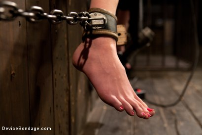 Photo number 12 from Kink fan gets her 1st shoot, chooses Device as her first!  Pain is delivered. Pleasure is extracted! shot for Device Bondage on Kink.com. Featuring Jay Taylor in hardcore BDSM & Fetish porn.