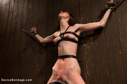 Photo number 13 from Kink fan gets her 1st shoot, chooses Device as her first!  Pain is delivered. Pleasure is extracted! shot for Device Bondage on Kink.com. Featuring Jay Taylor in hardcore BDSM & Fetish porn.