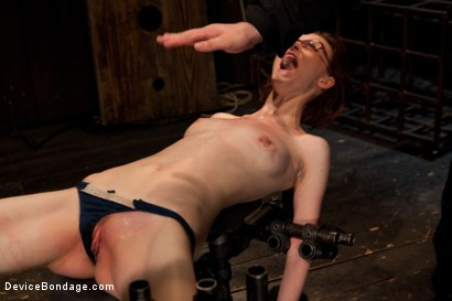Photo number 5 from Kink fan gets her 1st shoot, chooses Device as her first!  Pain is delivered. Pleasure is extracted! shot for Device Bondage on Kink.com. Featuring Jay Taylor in hardcore BDSM & Fetish porn.