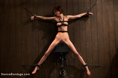 Photo number 11 from Kink fan gets her 1st shoot, chooses Device as her first!  Pain is delivered. Pleasure is extracted! shot for Device Bondage on Kink.com. Featuring Jay Taylor in hardcore BDSM & Fetish porn.