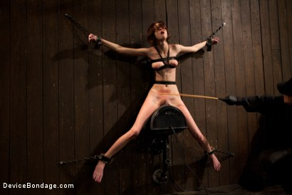 Photo number 14 from Kink fan gets her 1st shoot, chooses Device as her first!  Pain is delivered. Pleasure is extracted! shot for Device Bondage on Kink.com. Featuring Jay Taylor in hardcore BDSM & Fetish porn.