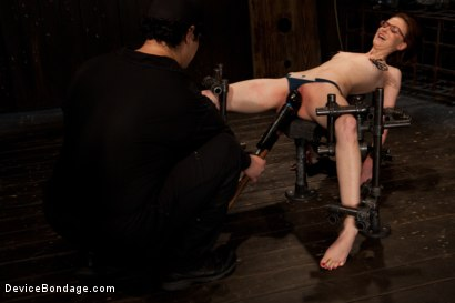 Photo number 4 from Kink fan gets her 1st shoot, chooses Device as her first!  Pain is delivered. Pleasure is extracted! shot for Device Bondage on Kink.com. Featuring Jay Taylor in hardcore BDSM & Fetish porn.