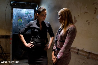 Photo number 1 from Wrong Place at the Wrong Time shot for Wired Pussy on Kink.com. Featuring Bobbi Starr and Yasmine de Leon in hardcore BDSM & Fetish porn.