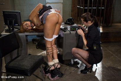 Photo number 7 from Wrong Place at the Wrong Time shot for Wired Pussy on Kink.com. Featuring Bobbi Starr and Yasmine de Leon in hardcore BDSM & Fetish porn.