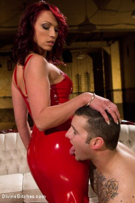 Photo number 4 from Red Hot Wet Tease shot for Divine Bitches on Kink.com. Featuring Michael Bridalveil and Nicki Hunter in hardcore BDSM & Fetish porn.