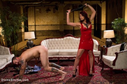 Photo number 6 from Red Hot Wet Tease shot for Divine Bitches on Kink.com. Featuring Michael Bridalveil and Nicki Hunter in hardcore BDSM & Fetish porn.