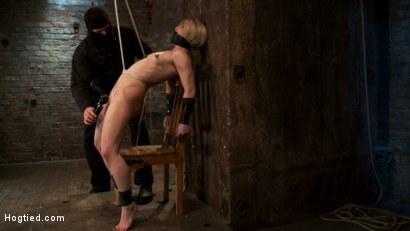 Photo number 3 from Severely gagged, flogged, clamped, a crotch rope arching her back with devastating multiple orgasms! shot for Hogtied on Kink.com. Featuring Ash Hollywood in hardcore BDSM & Fetish porn.