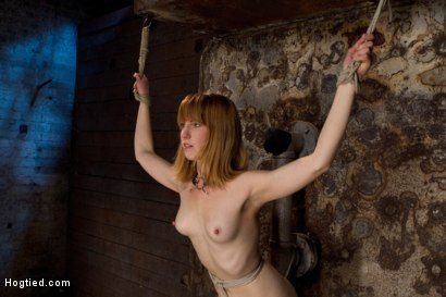 Photo number 1 from Clothes pins are whipped off this sexy amazons body. Nasty Crotch rope keeps her screaming & cumming shot for Hogtied on Kink.com. Featuring Mallory Mallone in hardcore BDSM & Fetish porn.