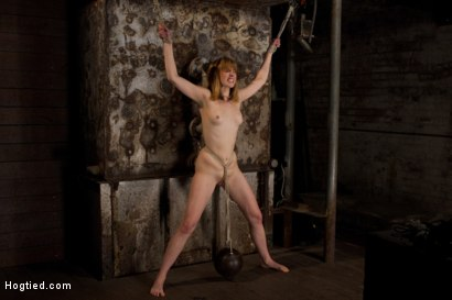 Photo number 9 from Clothes pins are whipped off this sexy amazons body. Nasty Crotch rope keeps her screaming & cumming shot for Hogtied on Kink.com. Featuring Mallory Mallone in hardcore BDSM & Fetish porn.
