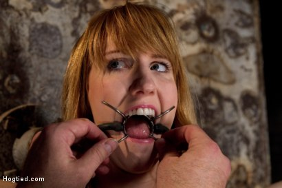 Photo number 4 from Clothes pins are whipped off this sexy amazons body. Nasty Crotch rope keeps her screaming & cumming shot for Hogtied on Kink.com. Featuring Mallory Mallone in hardcore BDSM & Fetish porn.