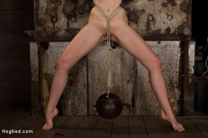 Photo number 10 from Clothes pins are whipped off this sexy amazons body. Nasty Crotch rope keeps her screaming & cumming shot for Hogtied on Kink.com. Featuring Mallory Mallone in hardcore BDSM & Fetish porn.