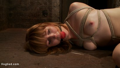 Photo number 1 from Tall sexy red head with huge nipples, made to cum, whipped, and cropped! Heavy pain & pleasure! shot for Hogtied on Kink.com. Featuring Mallory Mallone in hardcore BDSM & Fetish porn.