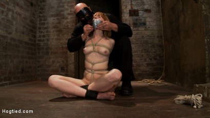 Photo number 4 from Tall sexy red head with huge nipples, made to cum, whipped, and cropped! Heavy pain & pleasure! shot for Hogtied on Kink.com. Featuring Mallory Mallone in hardcore BDSM & Fetish porn.