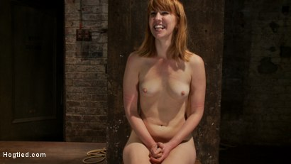 Photo number 15 from Tall sexy red head with huge nipples, made to cum, whipped, and cropped! Heavy pain & pleasure! shot for Hogtied on Kink.com. Featuring Mallory Mallone in hardcore BDSM & Fetish porn.