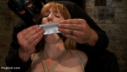 Photo number 3 from Tall sexy red head with huge nipples, made to cum, whipped, and cropped! Heavy pain & pleasure! shot for Hogtied on Kink.com. Featuring Mallory Mallone in hardcore BDSM & Fetish porn.
