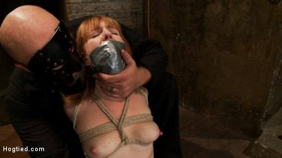Photo number 5 from Tall sexy red head with huge nipples, made to cum, whipped, and cropped! Heavy pain & pleasure! shot for Hogtied on Kink.com. Featuring Mallory Mallone in hardcore BDSM & Fetish porn.
