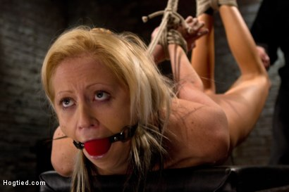 Photo number 4 from Hot flexible blond suffers a Category 5 suspension. Anal hook, heavy nipple weights, made to cum. shot for Hogtied on Kink.com. Featuring Rene Phoenix in hardcore BDSM & Fetish porn.