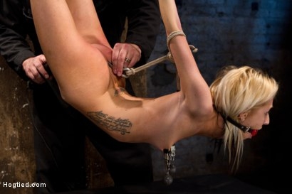 Photo number 11 from Hot flexible blond suffers a Category 5 suspension. Anal hook, heavy nipple weights, made to cum. shot for Hogtied on Kink.com. Featuring Rene Phoenix in hardcore BDSM & Fetish porn.
