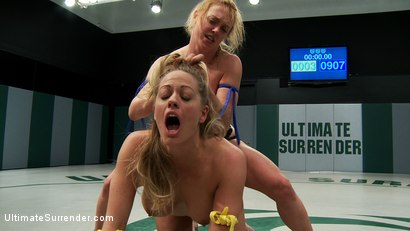 Photo number 15 from 2 hot blond fitness models battle in a hardcore, sexual, non-scripted, submission wrestling match! shot for Ultimate Surrender on Kink.com. Featuring Dee Williams and Holly Heart in hardcore BDSM & Fetish porn.