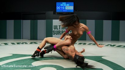 Photo number 6 from Tall skinny rookie, physically & sexually destroyed on the mat! Devastating! Brutally fucked in RD4. shot for Ultimate Surrender on Kink.com. Featuring Lyla Storm and DragonLily in hardcore BDSM & Fetish porn.