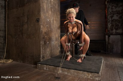 Photo number 5 from Huge tits, perfect ass, nipples tormented, skull brutally fucked, ass hooked, made to cum over & over shot for Hogtied on Kink.com. Featuring Charisma Cappelli in hardcore BDSM & Fetish porn.
